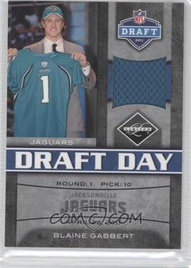 2011 Panini Limited Draft Day Materials Limited Jerseys #7 - Blaine Gabbert /100