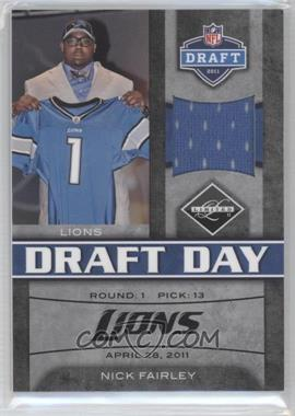 2011 Panini Limited Draft Day Materials Limited Jerseys #9 - Nick Fairley /100