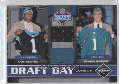 2011 Panini Limited Draft Day Player Combos Materials #1 - Cam Newton, Blaine Gabbert /100