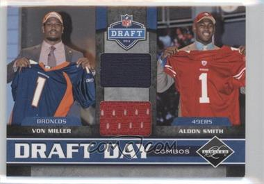 2011 Panini Limited Draft Day Player Combos Materials #3 - Aldon Smith, Von Miller /100