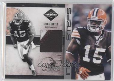 2011 Panini Limited Initial Steps Materials Jerseys Prime #31 - Greg Little /25