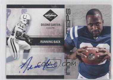 2011 Panini Limited Initial Steps Signatures [Autographed] #26 - Delone Carter /50