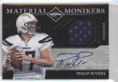 2011 Panini Limited Material Monikers #33 - Philip Rivers /25