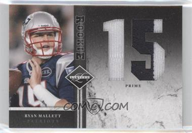 2011 Panini Limited Rookie Jumbo Materials Jersey Number Prime #4 - Ryan Mallett /10