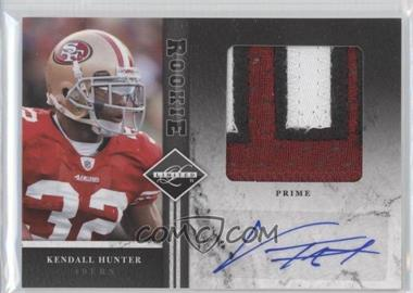 2011 Panini Limited Rookie Jumbo Materials Prime Signatures [Autographed] #15 - Kendall Hunter /25