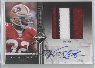 2011 Panini Limited Rookie Jumbo Materials Prime Signatures [Autographed] #15 - Kendall Hunter /25