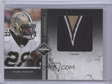 2011 Panini Limited Rookie Jumbo Materials Prime #22 - Mark Ingram /10