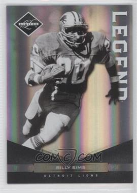 2011 Panini Limited Spotlight Silver #138 - Billy Sims /50