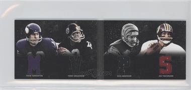 2011 Panini Playbook - Materials Booklet #17 - Fran Tarkenton, Joe Theismann, Terry Bradshaw, Ken Anderson /49