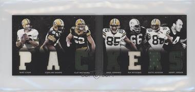 2011 Panini Playbook - Materials Booklet #25 - Greg Jennings, Keith Jackson, Ray Nitschke, Bart Starr, Clay Matthews, Henry Jordan, Sterling Sharpe /29