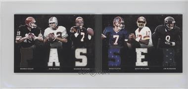 2011 Panini Playbook Materials Booklet #12 - Bob Griese, Bernie Kosar, Boomer Esiason, Doug Flutie, Doug Williams, Jim McMahon /49