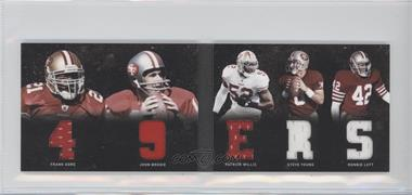 2011 Panini Playbook Materials Booklet #23 - John Brodie, Patrick Willis, Ronnie Lott, Steve Young, Frank Gore /49