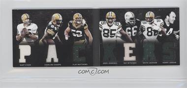 2011 Panini Playbook Materials Booklet #25 - Greg Jennings, Keith Jackson, Ray Nitschke, Bart Starr, Clay Matthews, Henry Jordan, Sterling Sharpe /29