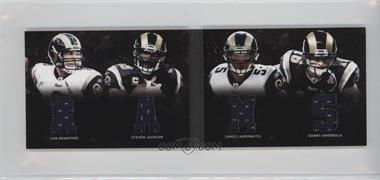 2011 Panini Playbook Materials Booklet #28 - James Laurinaitis, Sam Bradford, Steven Jackson, Danny Amendola /49