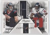 Andre Johnson, Matt Schaub /250