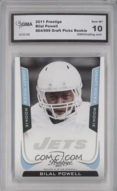 2011 Panini Prestige Draft Picks Light Blue #209 - Bilal Powell /999 [ENCASED]