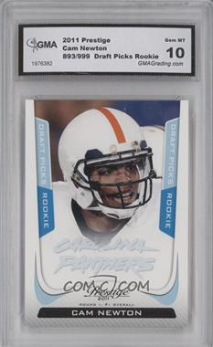 2011 Panini Prestige Draft Picks Light Blue #214 - Cam Newton /999 [ENCASED]