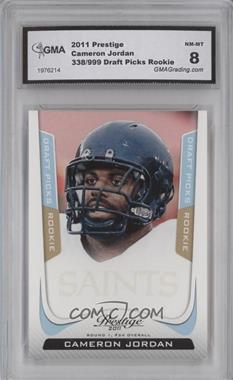 2011 Panini Prestige Draft Picks Light Blue #216 - Cameron Jordan /999 [ENCASED]