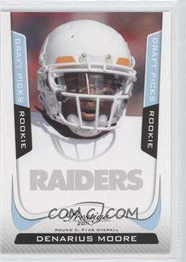 2011 Panini Prestige Draft Picks Light Blue #234 - Denarius Moore /999