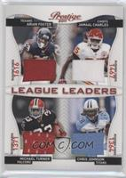 Arian Foster, Chris Johnson, Jamaal Charles, Michael Turner /100