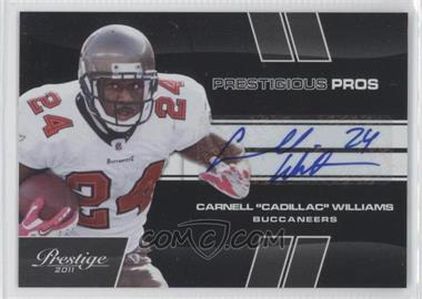 "2011 Panini Prestige Prestigious Pros Black Signatures [Autographed] #8 - Carnell ""Cadillac"" Williams /5"