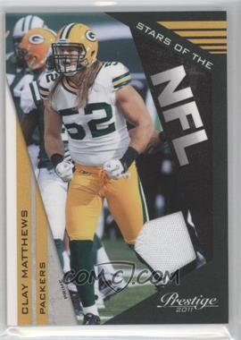 2011 Panini Prestige Stars of the NFL Materials Prime [Memorabilia] #13 - Clay Matthews /50