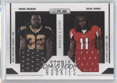 2011 Panini Rookies & Stars - Studio Rookies Combos - Materials #10 - Julio Jones, Mark Ingram /299