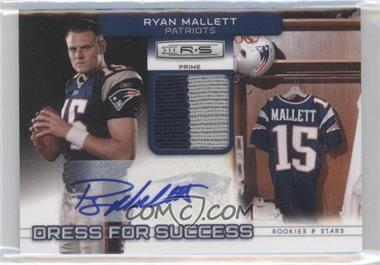 2011 Panini Rookies & Stars Dress for Success Jerseys Prime Signatures [Autographed] #28 - Ryan Mallett /10