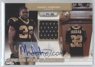 2011 Panini Rookies & Stars Dress for Success Jerseys Signatures [Autographed] #33 - Mark Ingram /25