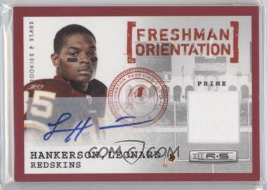 2011 Panini Rookies & Stars Freshman Orientation Jerseys Prime Autographs [Autographed] #9 - Leonard Hankerson /25