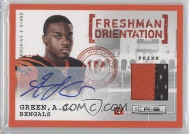 2011 Panini Rookies & Stars Freshman Orientation Jerseys Prime Signatures [Autographed] #27 - A.J. Green /10