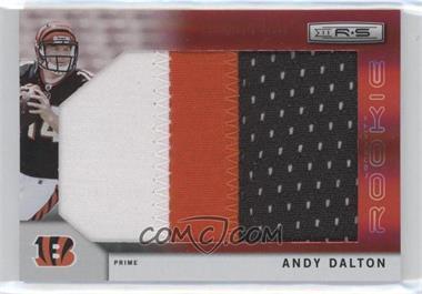 2011 Panini Rookies & Stars Longevity - [Base] - SP Rookies Jumbo Ruby Prime [Memorabilia] #268 - Andy Dalton /5
