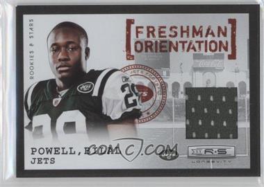 2011 Panini Rookies & Stars Longevity Freshman Orientation Jerseys #5 - Bilal Powell /249