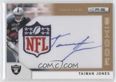 2011 Panini Rookies & Stars Rookie Signatures NFL Equipment Shield Gold #258 - Taiwan Jones /25