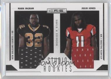 2011 Panini Rookies & Stars Studio Rookies Combos Materials #10 - Julio Jones, Mark Ingram /299