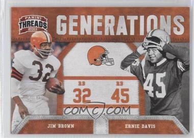 2011 Panini Threads - Generations #2 - Jim Brown, Ernie Davis