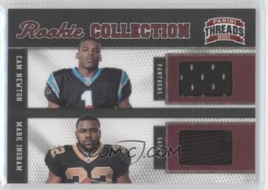 2011 Panini Threads - Rookie Collection Combos Materials #1 - Cam Newton, Mark Ingram /299