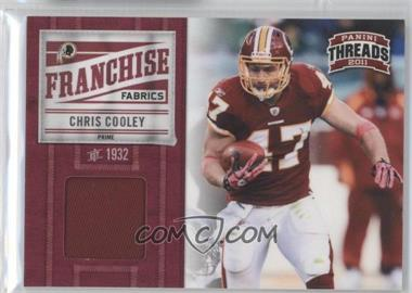 2011 Panini Threads Franchise Fabrics Prime #6 - Chris Cooley /50