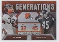 Ernie Davis, Jim Brown /100