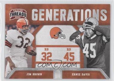2011 Panini Threads Generations #2 - Jim Brown, Ernie Davis