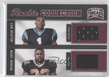 2011 Panini Threads Rookie Collection Combos Materials #1 - Cam Newton, Mark Ingram /299