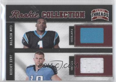 2011 Panini Threads Rookie Collection Combos Materials #11 - Jake Locker, Cam Newton /299