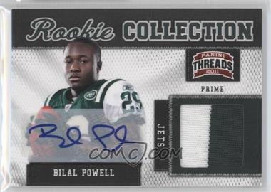 2011 Panini Threads Rookie Collection Materials Prime Signatures [Autographed] #5 - Bilal Powell /15