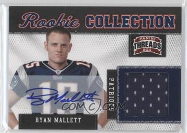 2011 Panini Threads Rookie Collection Materials Signatures [Autographed] #27 - Ryan Mallett /25