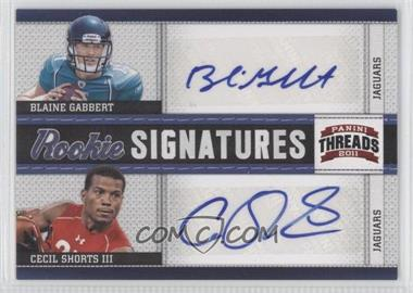 2011 Panini Threads Rookie Signatures Combos #4 - Blaine Gabbert, Cecil Shorts III /15