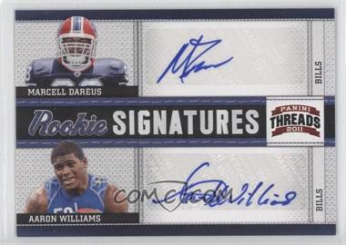 2011 Panini Threads Rookie Signatures Combos #8 - Aaron Williams, Marcell Dareus /15