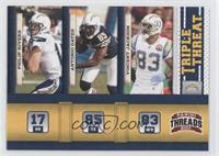 Philip Rivers, Antonio Gates, Vincent Jackson