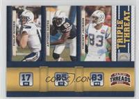 Philip Rivers, Vincent Jackson, Antonio Gates
