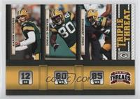 Aaron Rodgers, Donald Driver, Greg Jennings