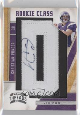 2011 Panini Threads #256 - Christian Ponder /300
